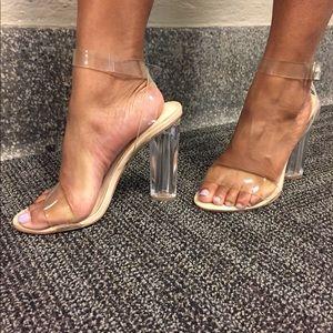 3b01294a9c4 Steve Madden Camille Lucite Clear Sandals